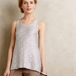 Moth Anthropologie Sana Shimmer Foil Tank Top